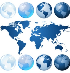 globe kit vector image
