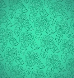 Pattern from white decorative flowers vector