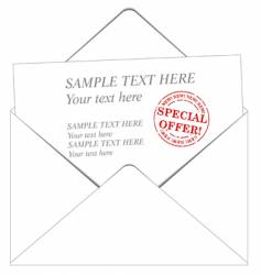 Envelope and message vector