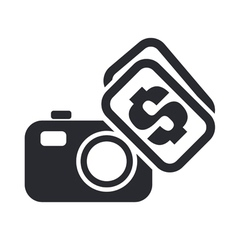 Sell photo icon vector
