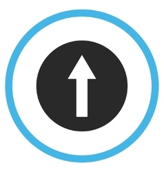 Up Rounded Arrow Flat Icon vector image