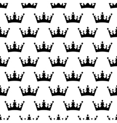 Crown pattern seamless vector