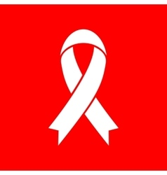 Black awareness ribbon sign vector