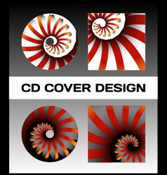 CD cover design vector image