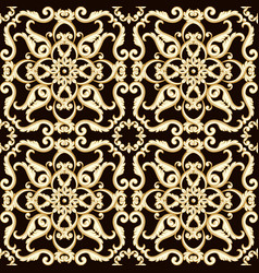 Abstract bright floral seamless pattern in brown vector