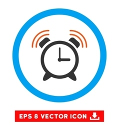 Alarm clock ring eps rounded icon vector