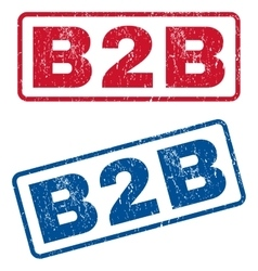 B2b rubber stamps vector