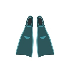 Blue flippers icon vector image