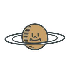 Cartoon planet saturn space astronomy vector