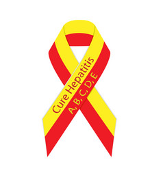 Cure hepatitis ribbon vector