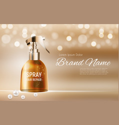 Design hair repair spray cosmetics product vector
