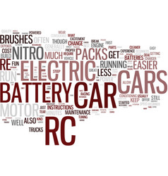 Electirc rc cars for fun and excitement text vector