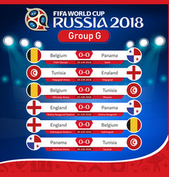 Fifa world cup russia 2018 group g fixture vector