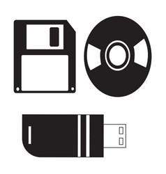 Flat black file transfer tools icon vector
