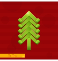 Green Fir Tree vector image
