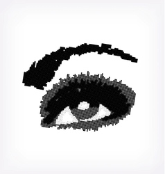 Grunge abstraction grey make-up vector image vector image