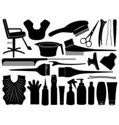 hair dressing design elements vector image vector image