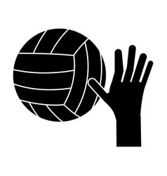 hand volleyball ball sport pictogram vector image vector image
