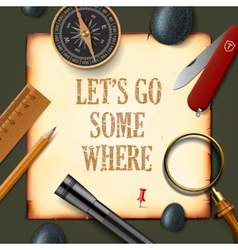 Lets some where adventure motivation concept vector