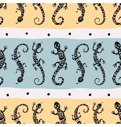 Lizards Seamless pattern vector image