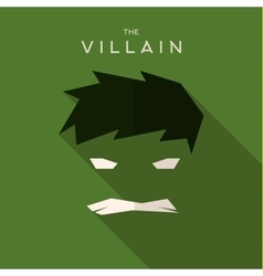 Mask Villain flat style icon logos vector image vector image