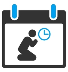 Pray time calendar day toolbar icon vector