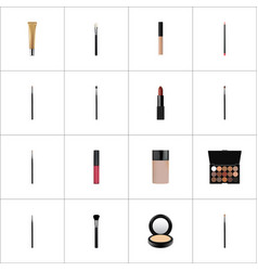 realistic blusher contour style kit concealer vector image