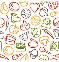 Seamless pattern for pizzeria vector