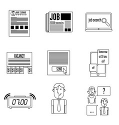 Set icons search vector