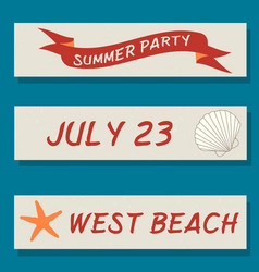 Set of flyer templates with sea theme vector