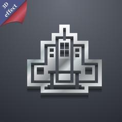 skyscraper icon symbol 3D style Trendy modern vector image