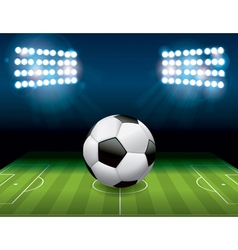 Soccer Football on Stadium Field vector image vector image