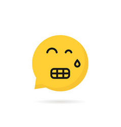 Tension emoji speech bubble logo on white vector