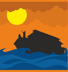 the flood and noahs ark vector image