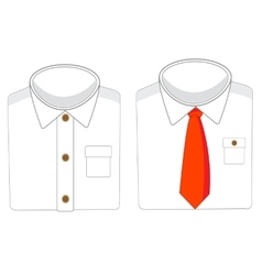 Two white shirts vector