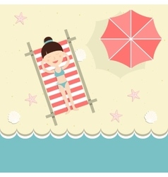 Businesswoman on vacation vector image