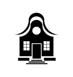 Cute little house icon simple style vector image
