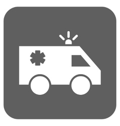 Emergency car flat squared icon vector