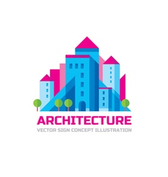 Architecture - logo template in flat style vector