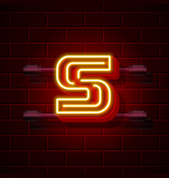 neon city font letter s signboard vector image