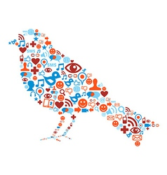 Social media bird icon vector