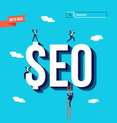 Business seo internet marketing vector
