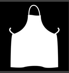 kitchen apron the white color icon vector image