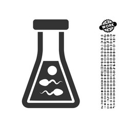 Sperm liquid icon with men bonus vector