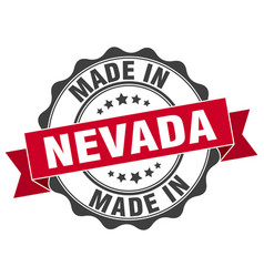 Made in nevada round seal vector