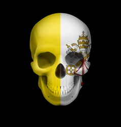 Vatican city flag skull vector