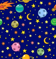 cartoon dark space pattern vector image