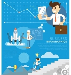 Business template infographic vector