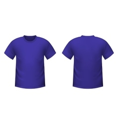 Realistic purple t-shirt vector