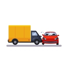 Car and transportation issue with a lorry vector